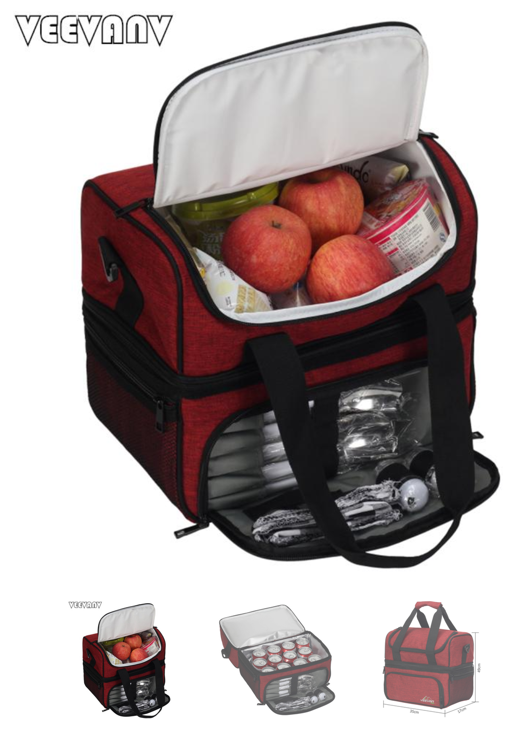 insulated, multi-compartment, tailgating tote bag