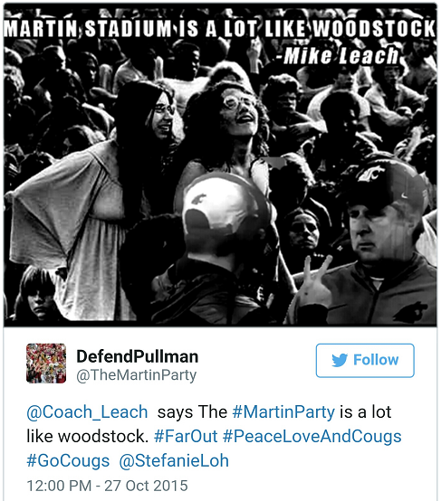 Pullman is Woodstock