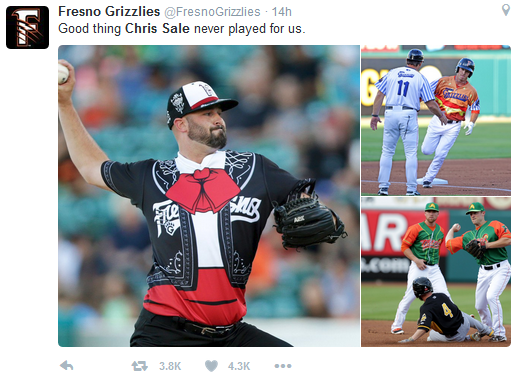 Fresno Grizzlies matador uniforms