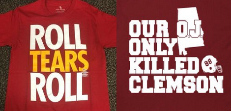 USC v Alabama troll shirts