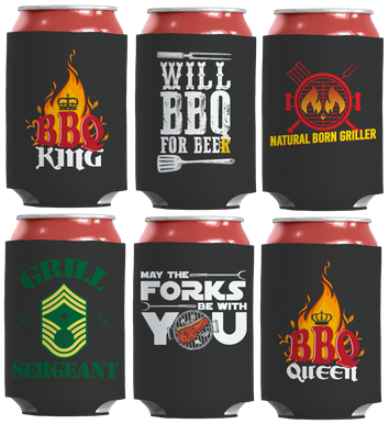 barbecue bbq tailgating koozies