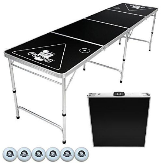 8-foot folding beer pong and flip cup table