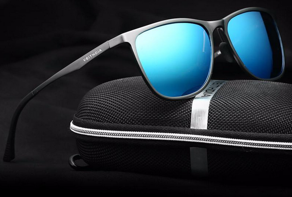 polarized, mirrored, aluminum-magnesium sunglasses