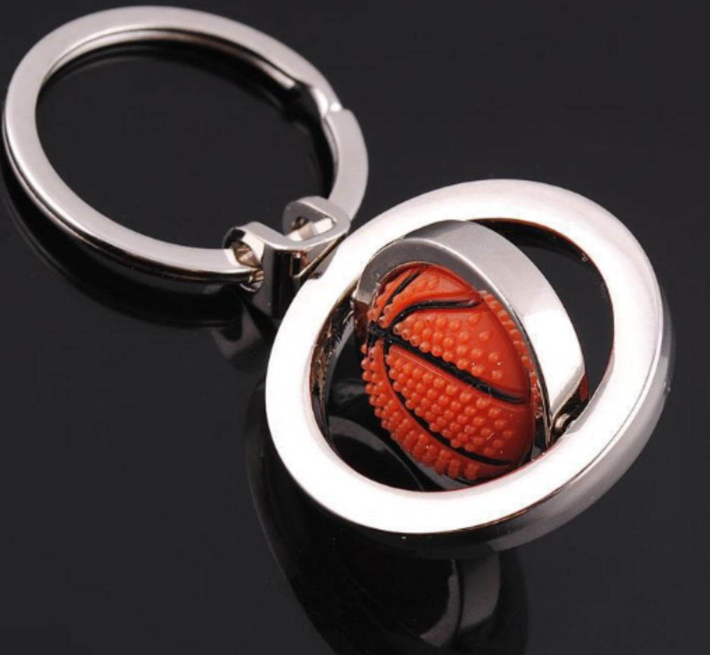 rotational basketball key ring