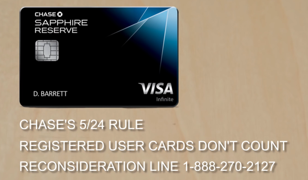 Chase Sapphire Reserve card 5/24 rule