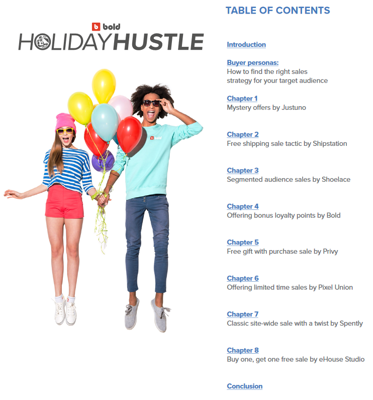 Bold app Holiday Hustle ebook