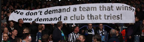 newcastle united fan protest