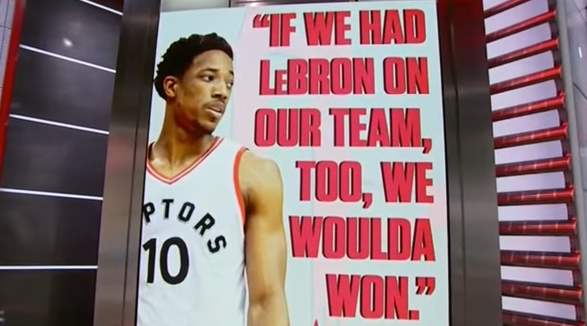 DeRozan on LeBron being a Raptor