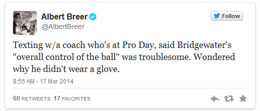 Breer tweet re Bridgewater