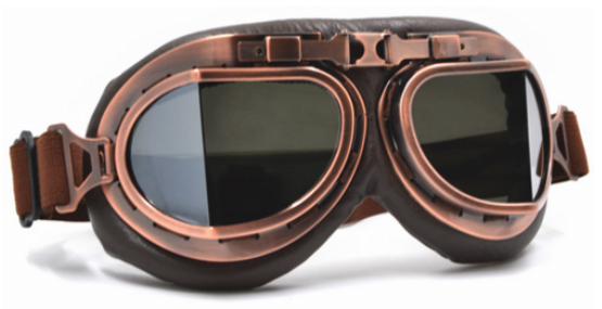 vintage steampunk motocross and dirtbike goggles