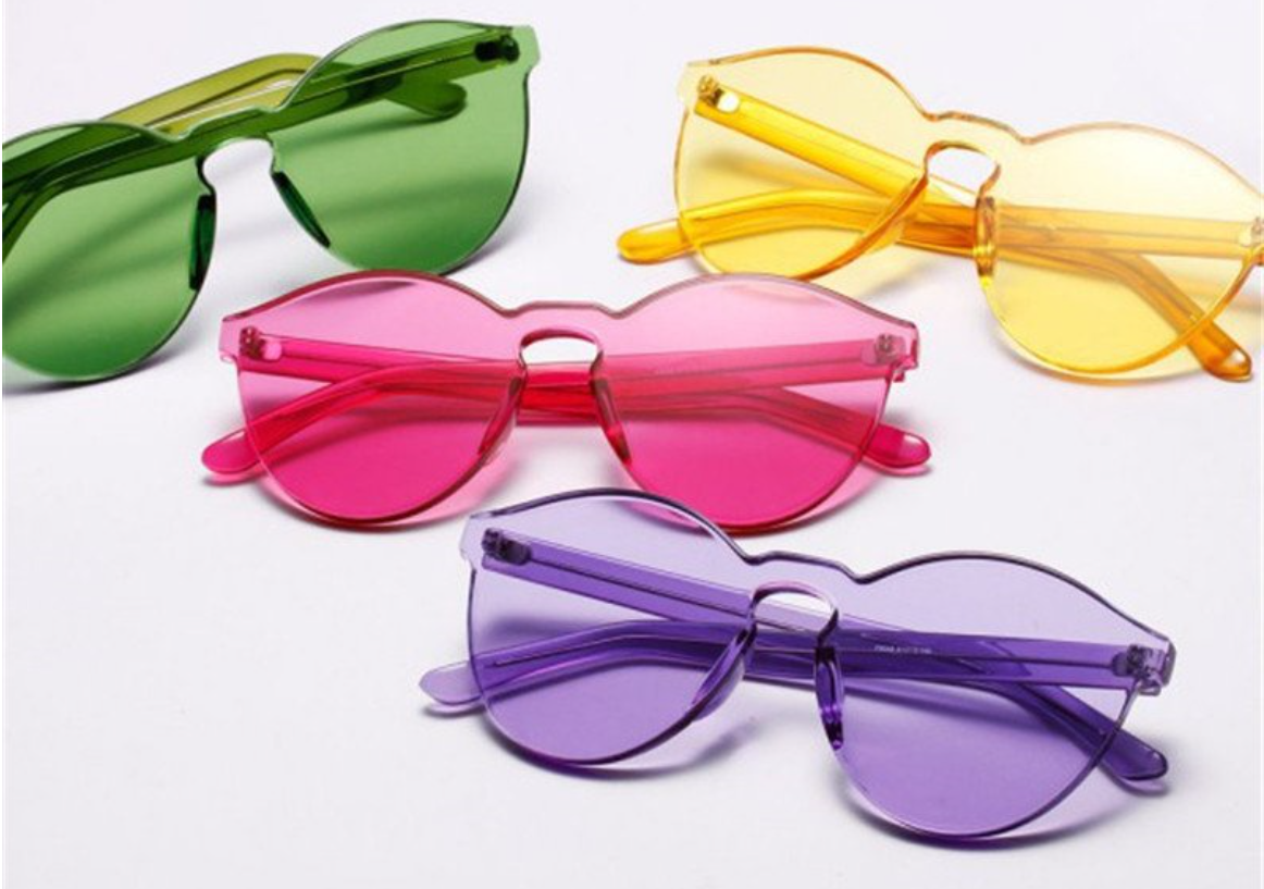 candy colored sports fashion sunglasses