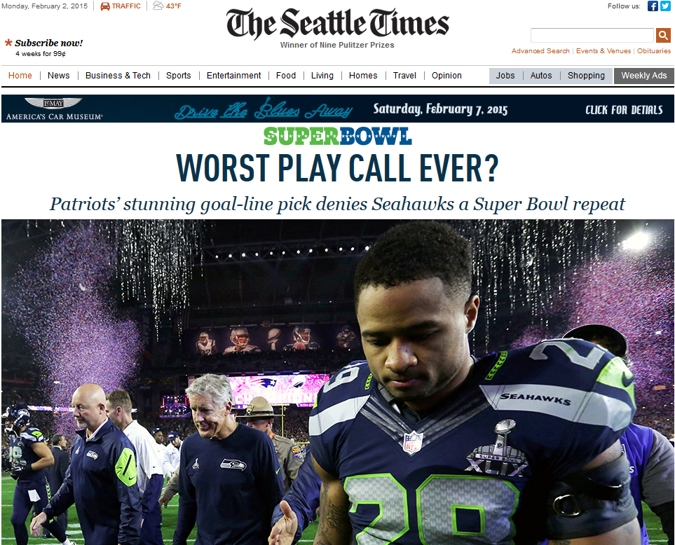 Seattle Times headline
