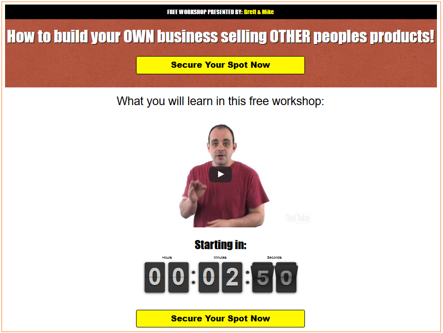 Affiliate Trax squeeze page