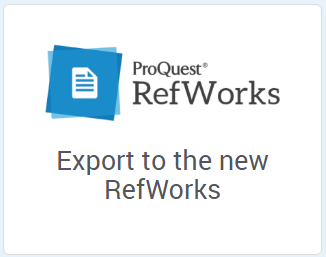 New RefWorks Logo