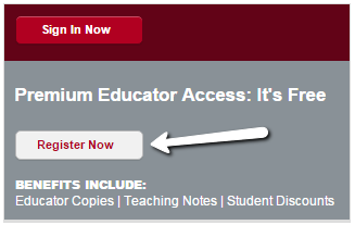 Image of register now button for Harvard Business Publisher premium education access