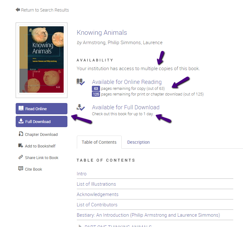 Book info page