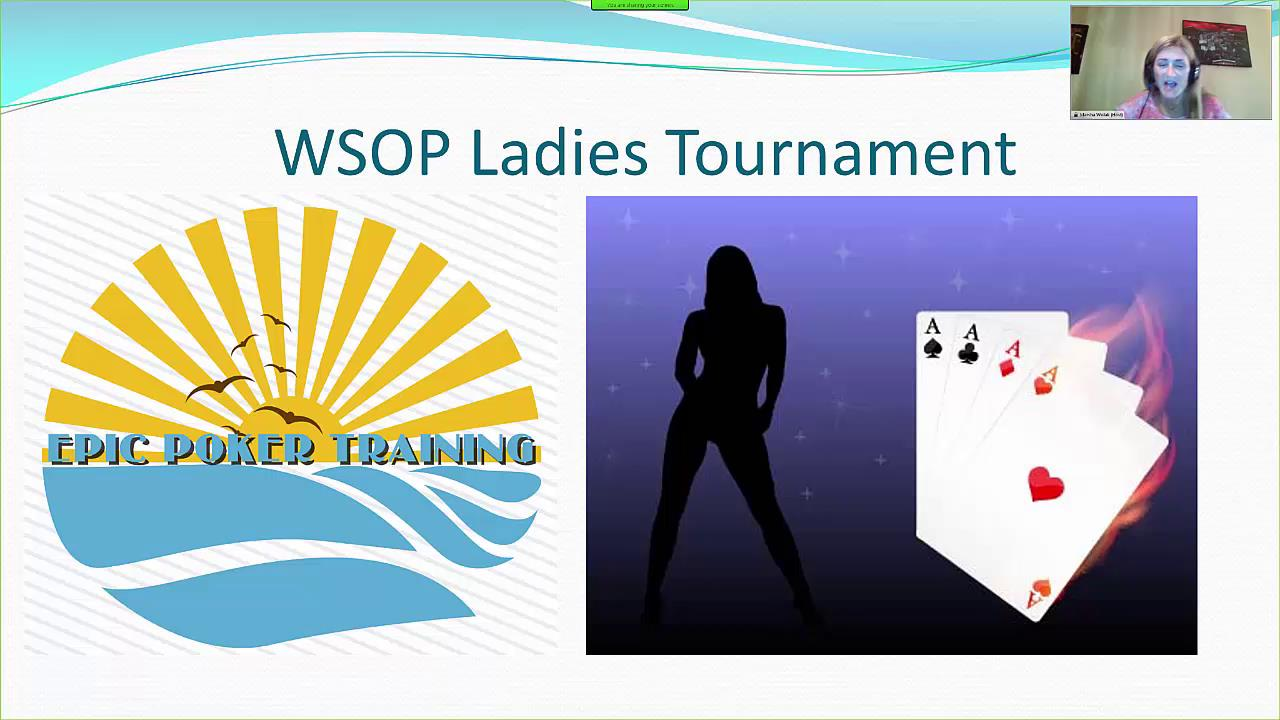 WSOP Ladies Tourney Prep Course
