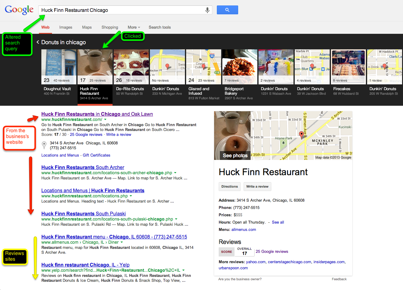 google carousel local search