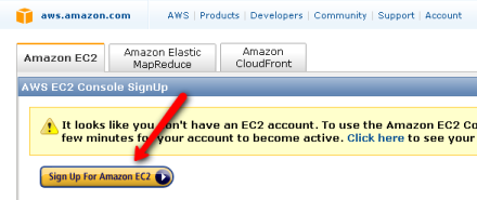 Elastic Compute Cloud (EC2) Sign Up