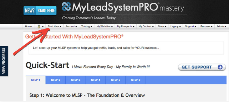 My Lead System Pro MLSP - Start Here