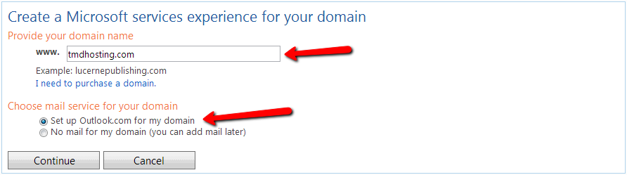 Hotmail Custom Domains