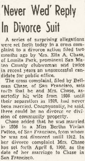 Newspaper article about Ella Chase