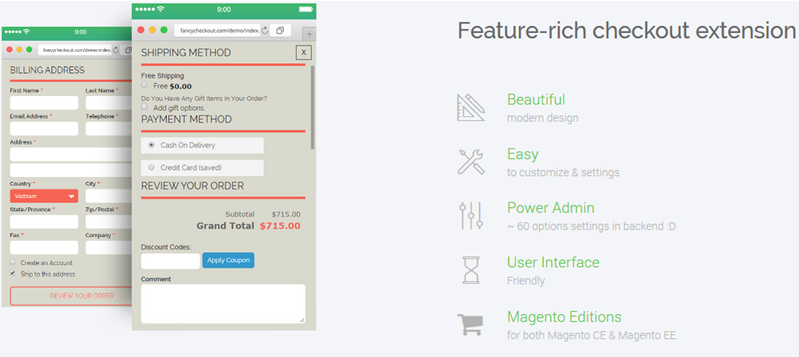 What do you know about Fancy Checkout Magento?