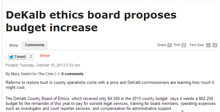 John Ernst, Duluth Attorney, on the Dekalb County Board of Ethics