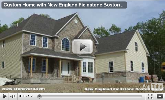 New England Fieldstone Boston Blend Mosaic & Round Thin Veneer