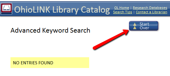 OhioLINK search