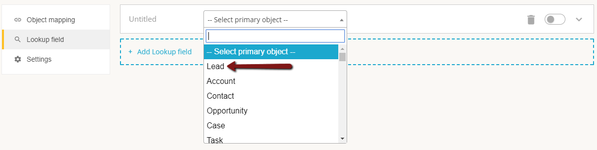 select salesforce object