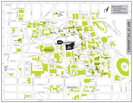 UC Berkeley Library campus map
