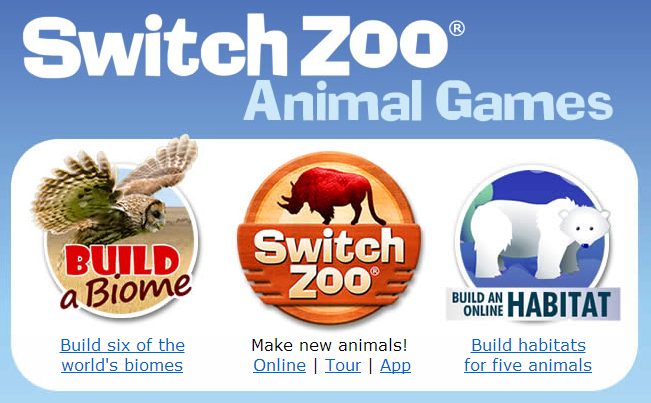 best kids websites - switch zoo