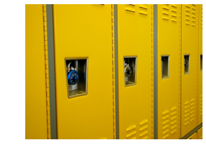 Lockers aren't just for high school, business schools have them too!