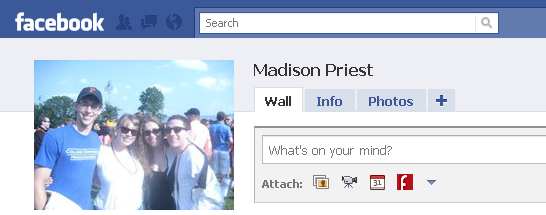 Madison Priest's Facebook page