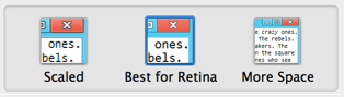 The new UI for Retina Support in Parallels 8