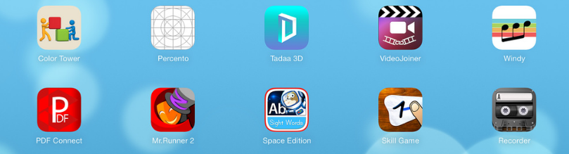 screen with various Apple apps