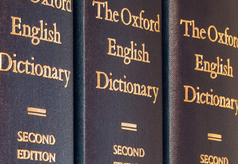 spine of the Oxford English Dictionary
