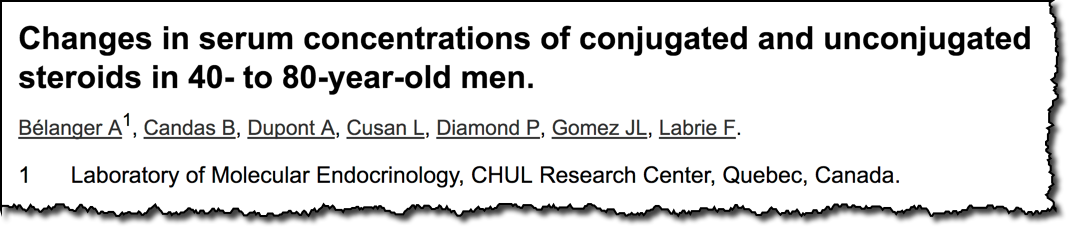 Changes in serum concentrations of conjugated and unconjugated steroids in 40- to 80-year-old men