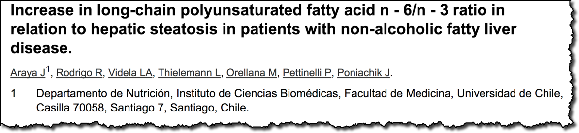 Increase in long-chain polyunsaturated fatty acid n - 6/n - 3 ratio in relation to hepatic steatosis in patients with non-alcoholic fatty liver disease