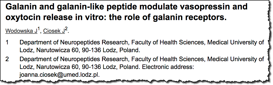 Galanin and galanin-like peptide modulate vasopressin and oxytocin release in vitro: the role of galanin receptors