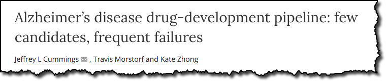 Alzheimer's disease drug-development pipeline: few candidates, frequent failures