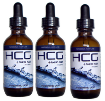 3 homeopathic hcg bottles