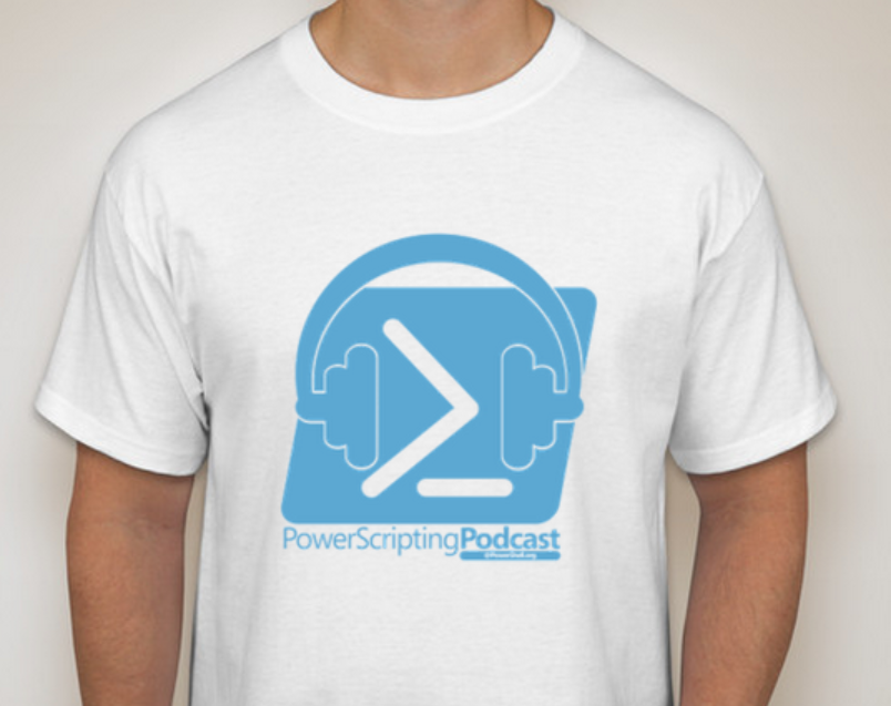 PowerScripting Podcast t-shirt mockup
