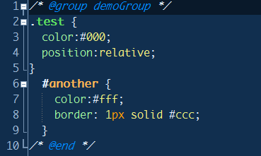 CSS Group in E-texteditor