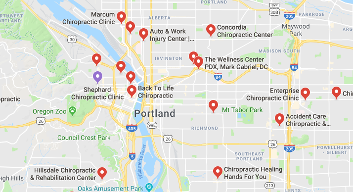 chiropractors and clinics in Portland you can visit.