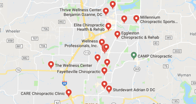 chiropractors and clinics in Fayetteville
