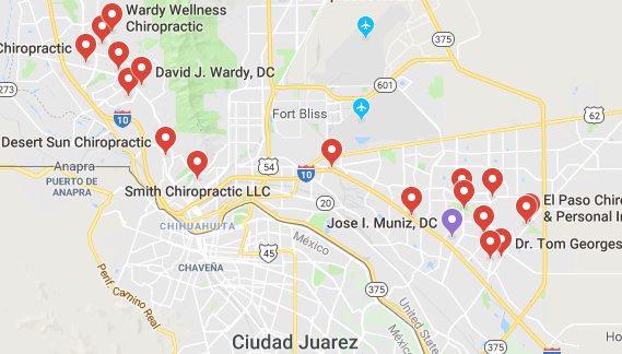 Here are some chiropractors and clinics in El Paso you can visit.