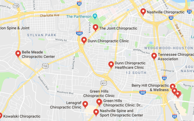 Here are some chiropractors and clinics in Nashville you can visit.