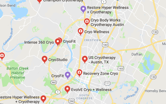 Top Cryotherapy in Austin Texas